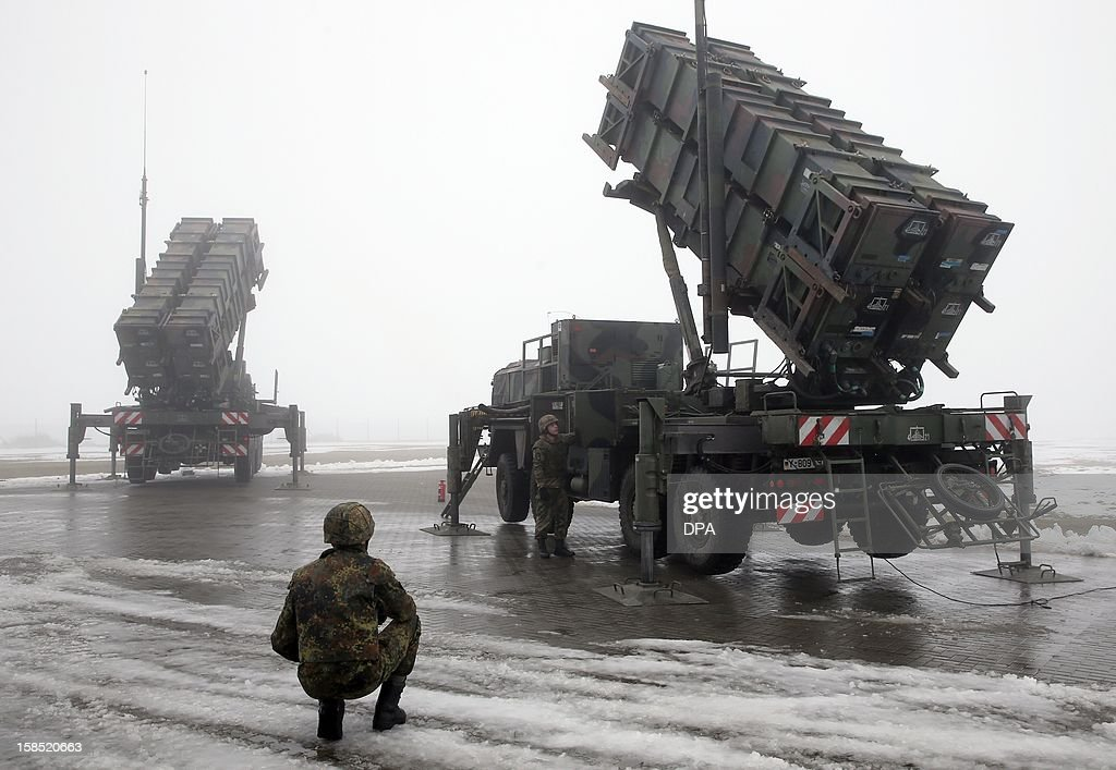 The air defense missile system 'Patriot' is presented on December 18, 2012 in Warbelow, northern Germany, at a media day of air defense missile groups 21 (Sanitz) and 24 (Bad jelly). Following the decision of the Bundestag, these 'Patriot' systems of the Bundeswehrare will be used to protect the NATO allies in Turkey from attacks from Syria. AFP PHOTO / BERND WUSTNECK /GERMANY OUT