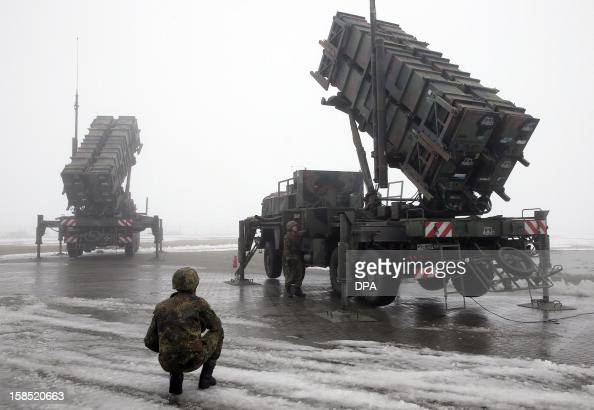 The air defense missile system 'Patriot' is presented on December 18 2012 in Warbelow northern Germany at a media day of air defense missile groups...