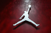 The Air Jordan logo at the Air Jordan XX Launch Party at Rise Nightclub on February 18 2005 in Denver Colorado
