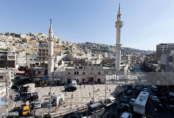 The Al Husseini mosque is pictured prior to the FIFA U17 Women's World Cup Jordan 2016 on September 27 2016 in Amman Jordan
