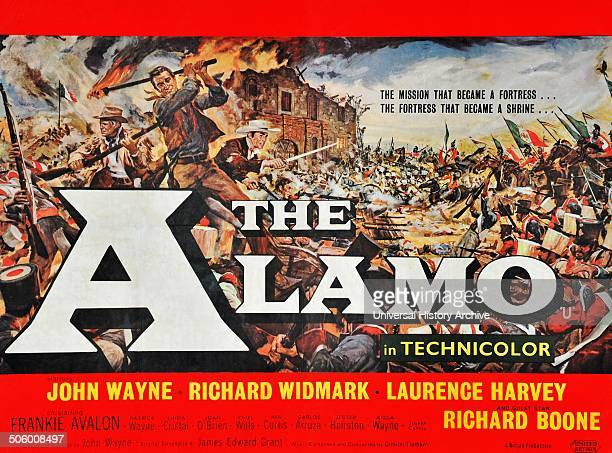 'The Alamo' starring John Wayne Richard Widmark Laurence Harvey and Richard Boone The Battle of the Alamo was a pivotal event in the Texas Revolution