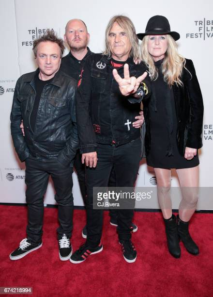 The Alarm attends the premiere of 'Dare to be Different' during the 2017 Tribeca Film Festival at Spring Studios on April 27 2017 in New York City