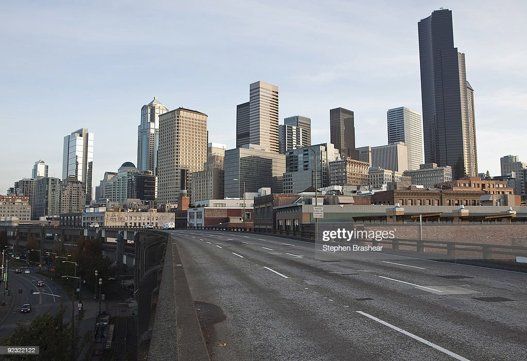 The Alaskan Way Viaduct winds past downtown Seattle Washington October 24 2009 The viaduct which was constructed in the 1950s and carries 11000 cars...