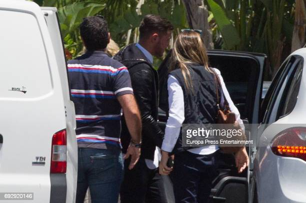 The Alaves defender French football player Theo Hernandez leaves the Police Station after the 22yearold woman Luisa Kremleva accused him of sexual...