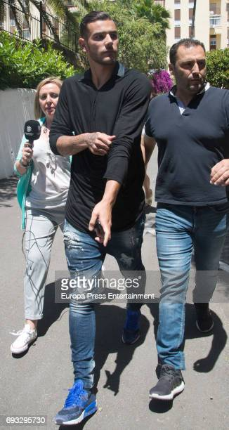 The Alaves defender the French football player Theo Hernandez leaves court on June 6 2017 in Marbella Spain He has been released without charge after...