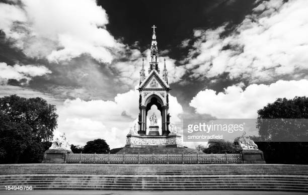 The Albert Memorial In Black & White