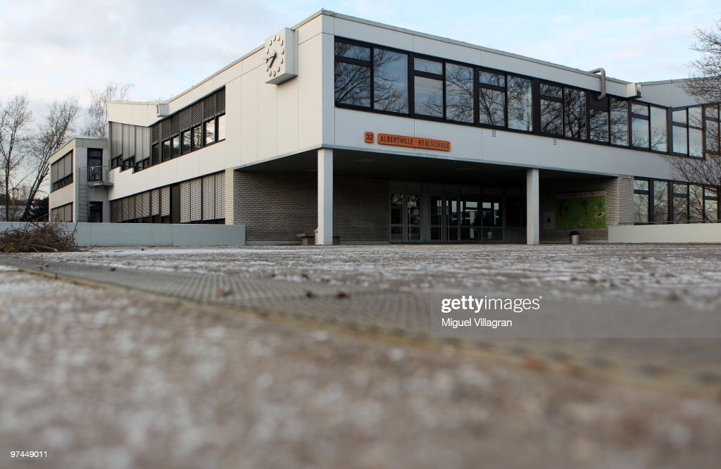 The Albertville School is pictured on March 5, 2010 in Winnenden, Germany. Tim Kretschmer opened fire on teachers and pupils at his former school on March 11, 2009, killing 15 and leaving many more injured. Kretschmer fled the scene and shot himself dead after being cornered by police.