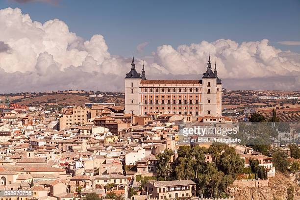 The Alcazar and city of Toledo, Spain.