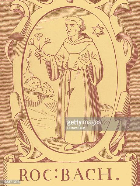 The Alchemist Roger Bacon after engraving by Vriese
