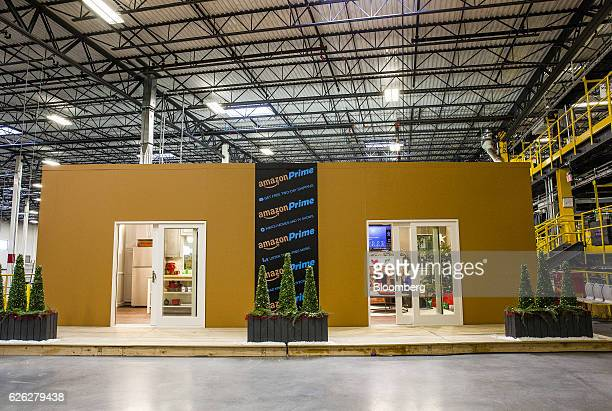 The Alexa room stands inside an Amazoncom Inc fulfillment center in Robbinsville New Jersey US on Monday Nov 28 2016 In 2005 retailers coined the...