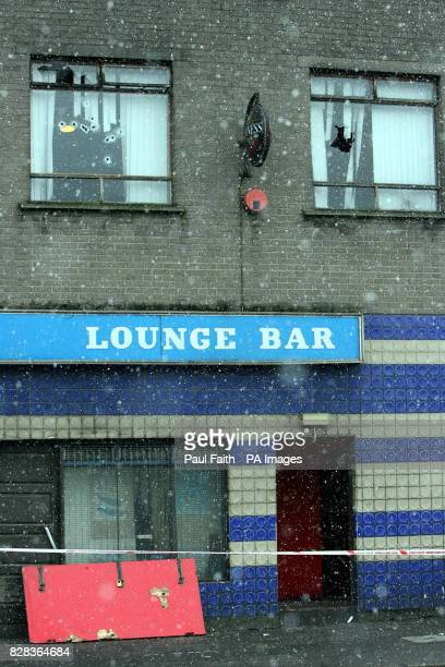 The Alexander bar in North Belfast Friday 3 March 2006 Seventeen men were arrested following a police search of a bar in a loyalist area of north...
