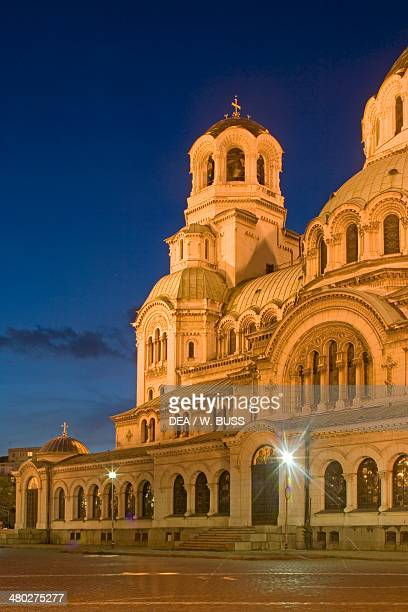 The Alexander Nevsky Cathedral in the early evening light Sofia Bulgaria Detail