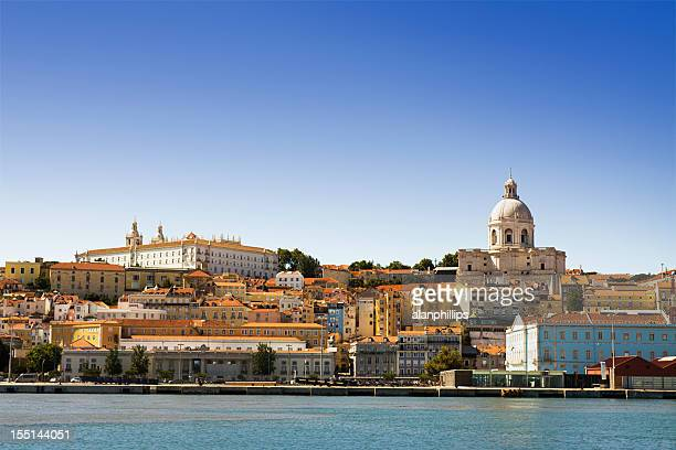 The Alfama district of Lisbon seen from the Tagus River