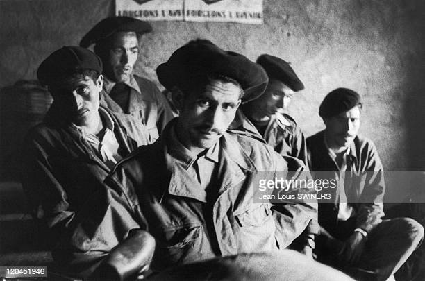 The Algerian War in Algeria in 1959 Harkis on a military operation