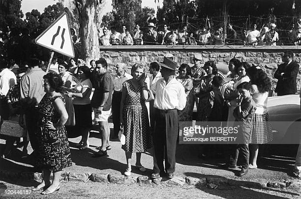 The Algerian War In Algiers Algeria The Evian Accords were signed on March 18 making Algeria independentBen Bella is greeted by the Algerian...