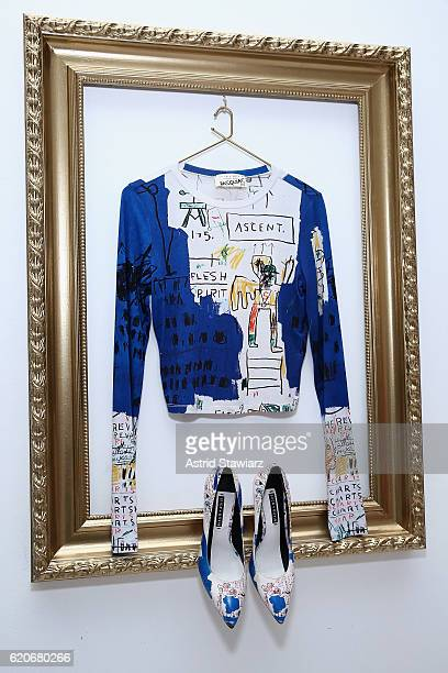 The alice olivia x Basquiat CFDA Capsule Collection on display during the launch party on November 2 2016 in New York City