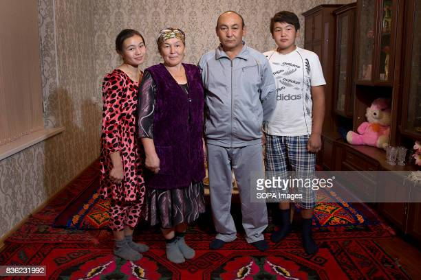The Alimbekov family at home Father Kanybek is a trained hydroengineer and community leader and his wife Cumagul is an elementary school principal...