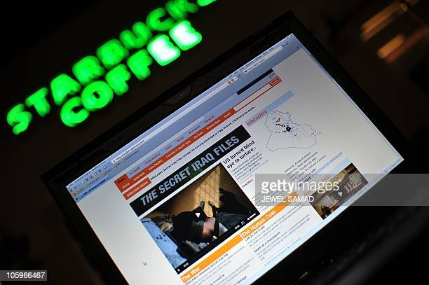 The AlJazeera television channel website displaying news coverage on secret US documents obtained by WikiLeaks is seen on a computer screen at a cafe...