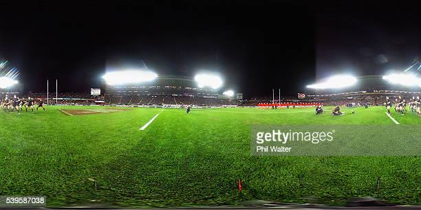 The All Blacks perform the haka during the International Test match between the New Zealand All Blacks and Wales at Eden Park on June 11 2016 in...