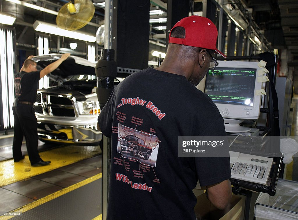The all new 2009 Dodge Ram goes through a final inspection as it goes through the assembly line at the Warren Truck Assembly Plant September 12 2008...