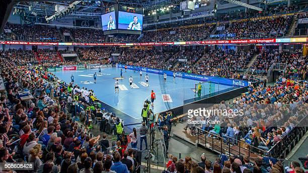 The All Stars of DKB HandballBundesliga challenge team Germany during the All Star Game 2016 at Arena Nuernberger Versicherungen on February 5 2016...