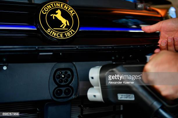 The AllCharge charging system is presented during a media event by Continental to showcase new automotive technologies on June 20 2017 in Hannover...