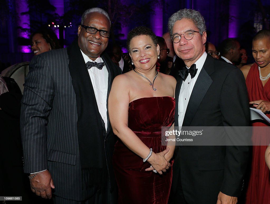 The Alliance for Digital Equality founder Julius Hollis, Chairman and Chief Executive Officer of BET Networks Debra Lee and President of HBO Henry McGee attend the Inaugural Ball hosted by BET Networks at Smithsonian American Art Museum & National Portrait Gallery on January 21, 2013 in Washington, DC.