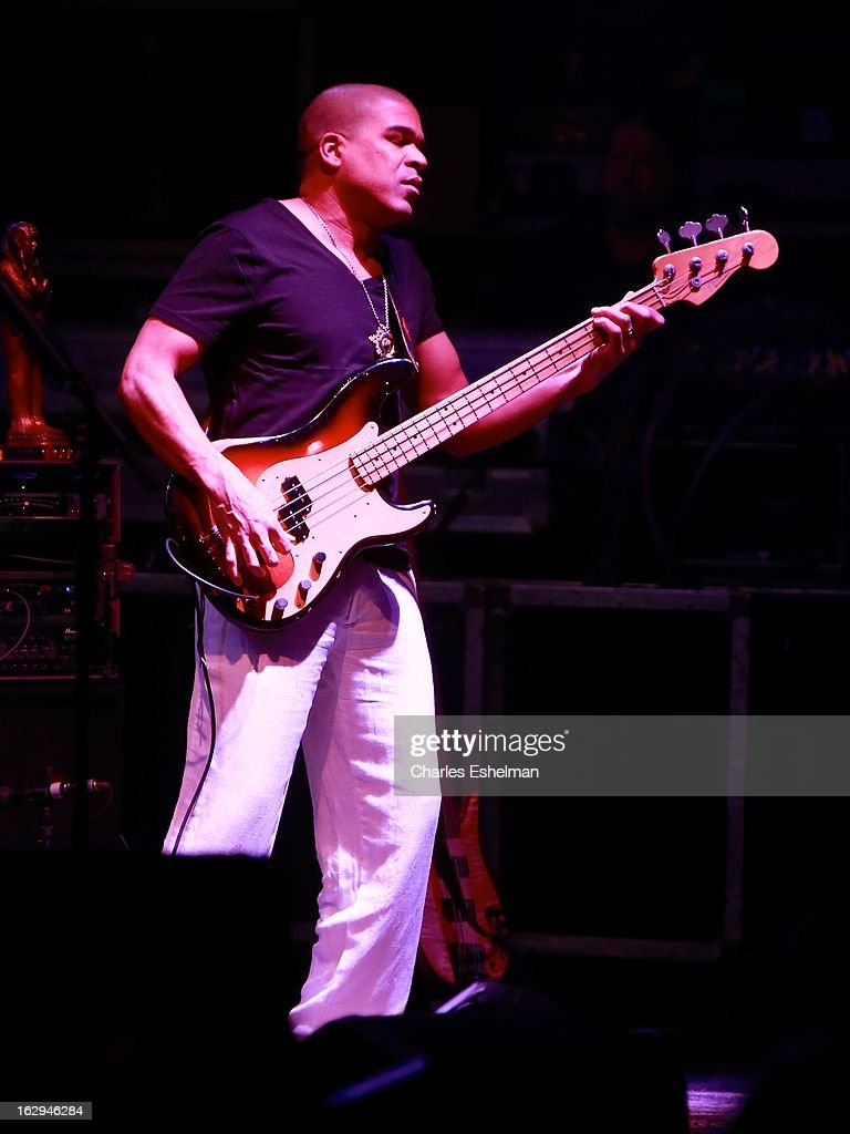 The Allman Brothers bass player Oteil Burbridge performs at Beacon Theatre on March 1, 2013 in New York City.