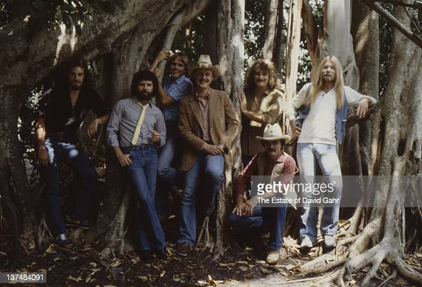 The Allman Brothers pose for a portrait in March 1982 in Sarasota Florida