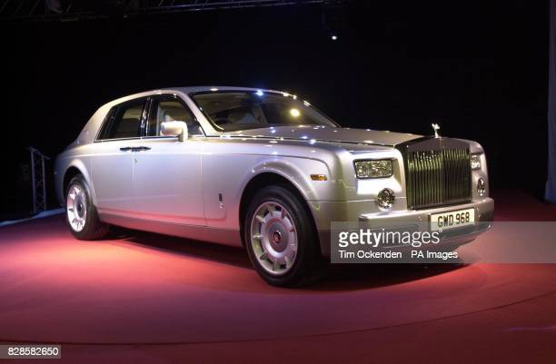 The allnew RollsRoyce Phantom unveiled at the company's new manufacturing plant and head office at Goodwood in West Sussex UK * The car has a V12...