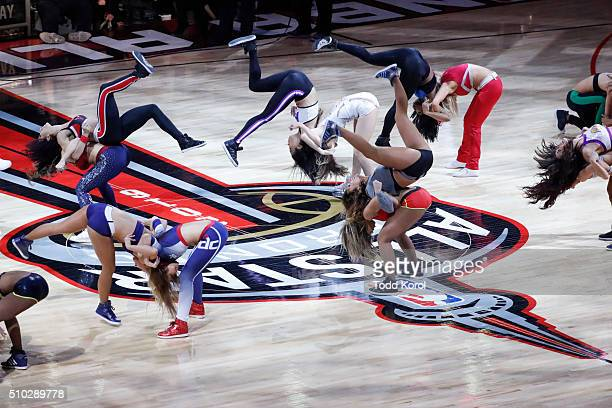 The allstar cheerleaders perform during a break at the NBA allstar game in Toronto Ontario Toronto Star/Todd Korol