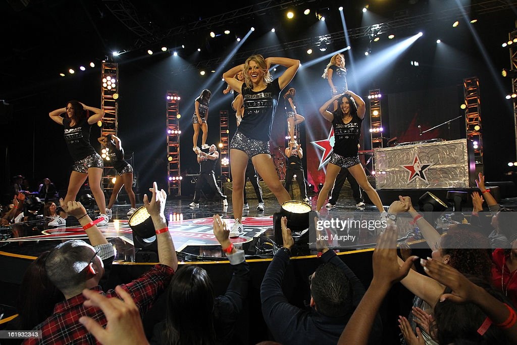 The All-Star Jam Session Spirit Squad performs during the Sprint NBA All-Star Pregame Concert in Sprint Arena during the NBA All-Star Weekend on February 17, 2013 at the George R. Brown Convention Center in Houston, Texas.