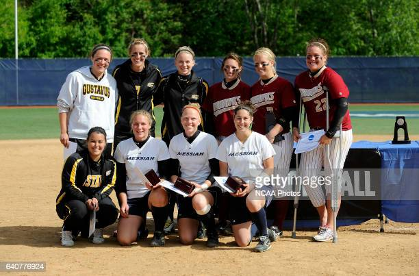 The alltournament team poses for a photograph after the Division III Women's Softball Championship held at the Montclair State University Softball...