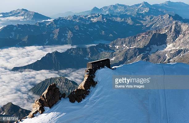 The Alpine refuge Margherita Hut