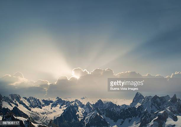 The Alps in the Mont Blanc Massif