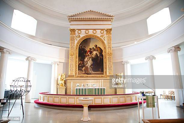 The Altar at the Helsinki Lutheran Cathedral, Finland.