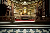 The altar in St Stephen's Basilica 18511905 Pest Budapest Hungary 19th20th century