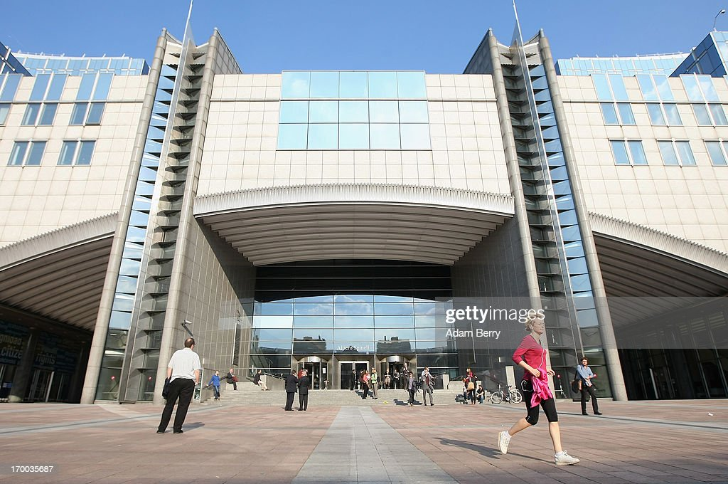 The Altiero Spinelli building of the European Parliament is pictured on June 5, 2013 in Brussels, Belgium. Opened in 1998 and named after Italian anti-fascist and political theorist Spineli the next year, the building is in the center of those of the complex of European Parliament buildings in its Brussels branch, one of three sites together with those in Strasbourg and Luxembourg. Along with the European Commission and the Council of the European Union, the Parliament exercises the legislative function of the European Union (EU).