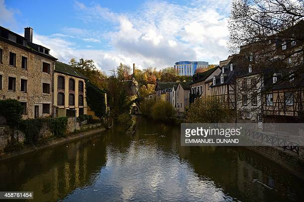 The Alzette river with the Sofitel hotel in the distance is seen from Munster street in downtown Luxembourg City on November 10 2014 Leaked documents...