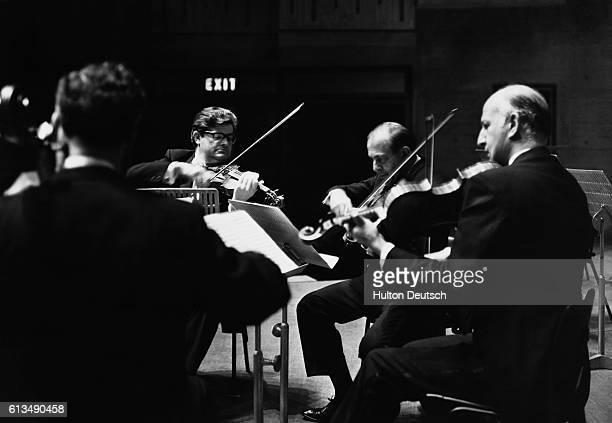 The Amadeus Quartet performing at London's Queen Elizabeth Hall