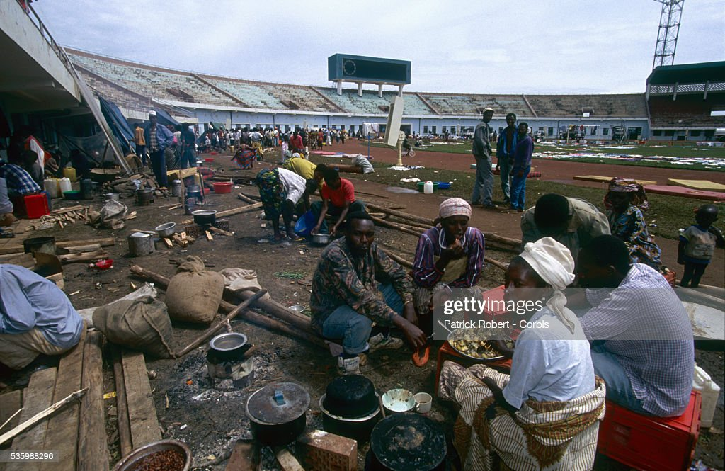 The Amahoro Stadium after it was bombed by the army during the civil war in Rwanda.