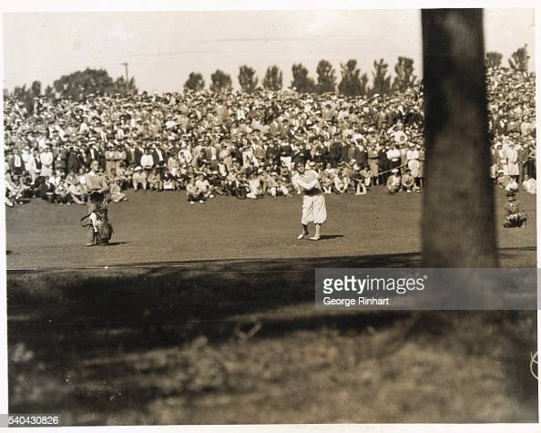 The Amateur golf championship of 1928 held at Admore Pennsylvania where Bobby Jones defeats Gene Homans gaining his fourth major crown of the year |...
