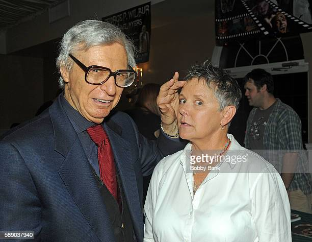 The Amazing Kreskin and Amanda Bearse attend the 2016 Monster Mania Con at NJ Crowne Plaza Hotel on August 12 2016 in Cherry Hill New Jersey