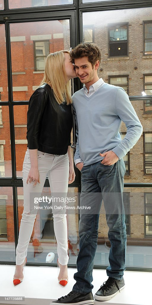 The Amazing Spider-Man star Andrew Garfield and Emma Stone at the The Crosby Street Hotel, 79 Crosby Street, in Manhattan.