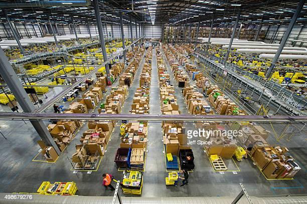 The Amazon Fulfilment Centre prepares for Black Friday on November 25 2015 in Hemel Hempstead England Black Friday has now overtaken Cyber Monday as...