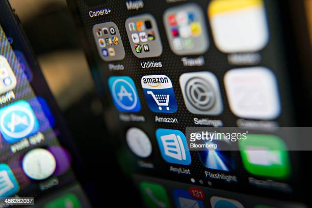 The Amazoncom Inc app is displayed on an Apple Inc iPhone 5 in Tiskilwa Illinois US on Wednesday April 23 2014 Amazoncom Inc is scheduled to release...