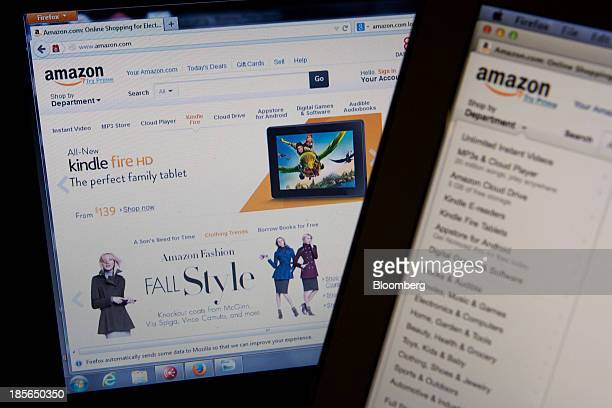 The Amazoncom Inc homepage is displayed on laptop computers in Washington DC US on Wednesday Oct 23 2013 Amazoncom Inc is scheduled to release...