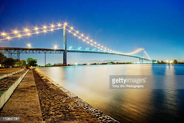 The Ambassador Bridge in Detroit