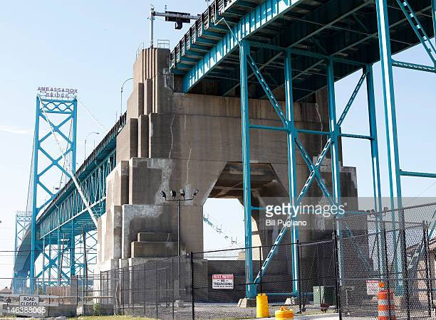 The Ambassador Bridge which links Detroit to Windsor Canada is shown June 15 2012 in Detroit Michigan Michigan Gov Rick Snyder and Canadian Prime...