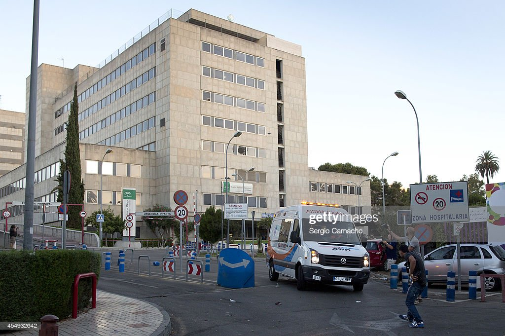 The ambulance carrying five-year-old Ashya King, leaves the Materno Infantil Hospital for the airport on September 8, 2014 in Malaga, Spain. Ashya King, who has a brain tumour, was taken by his parents from a UK hospital against medical advice and transported to Spain for medical treatment. Ashya is now allowed to be transferred from the hospital in Malaga, Spain to to a hospital in Prague, Czech Republic to receive proton treatment.